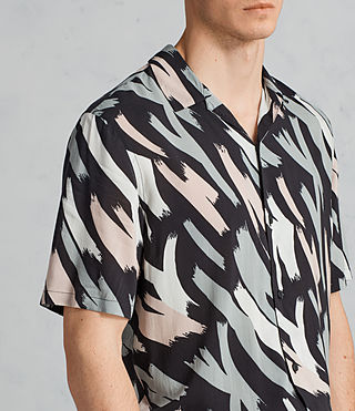 Men's Rope Short Sleeve Shirt (BLACK/CAMO) - Image 2