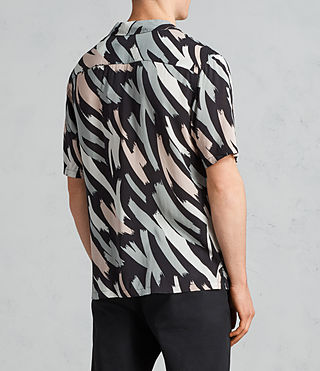 Men's Rope Short Sleeve Shirt (BLACK/CAMO) - Image 4