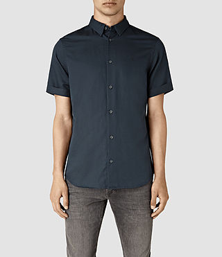 Mens Hermosa Short Sleeve Shirt (INK NAVY)