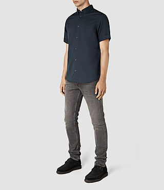 Men's Hermosa Short Sleeve Shirt (INK NAVY) - product_image_alt_text_2