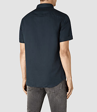 Mens Hermosa Short Sleeve Shirt (INK NAVY) - product_image_alt_text_3