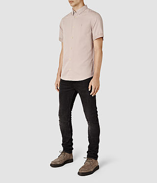 Men's Hermosa Short Sleeve Shirt (Sphinx Pink) - product_image_alt_text_2