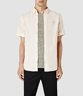 Mens Hermosa Short Sleeve Shirt (ECRU WHITE) - product_image_alt_text_1
