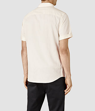 Mens Hermosa Short Sleeve Shirt (ECRU WHITE) - product_image_alt_text_3