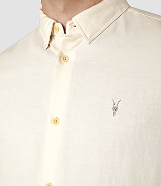 Mens Hermosa Short Sleeve Shirt (ECRU WHITE) - product_image_alt_text_4