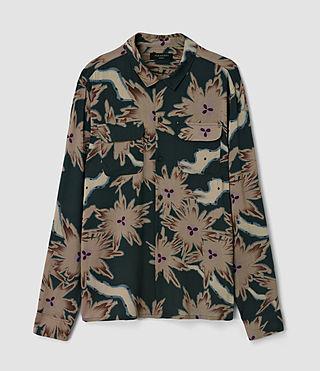Hommes Shonto Shirt (Bottle Green) - product_image_alt_text_2