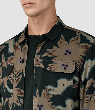 Hombres Shonto Shirt (Bottle Green) - product_image_alt_text_3