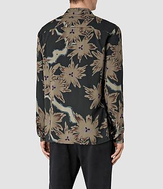 Hommes Shonto Shirt (Bottle Green) - product_image_alt_text_5