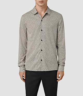Hommes Peck Ls Shirt (Chrome)