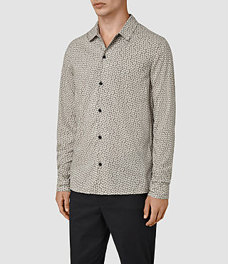 Hombres Peck Ls Shirt (Chrome Grey) - product_image_alt_text_2