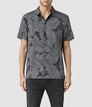 Mens Yoza Short Sleeve Shirt (Black)