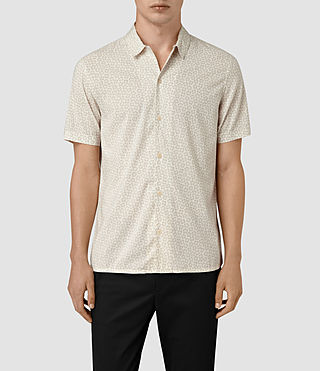 Hombres Peck Short Sleeve Shirt (Chalk White)