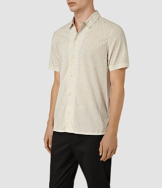 Hombres Peck Short Sleeve Shirt (Chalk White) - product_image_alt_text_2
