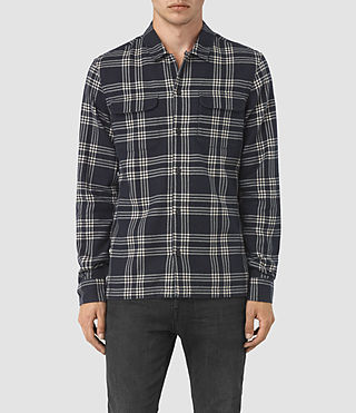 Hommes Talpa Check Shirt (Ink)