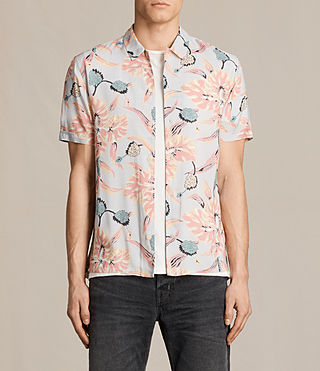 Hommes Pipeline Short Sleeve Shirt (Light Grey)