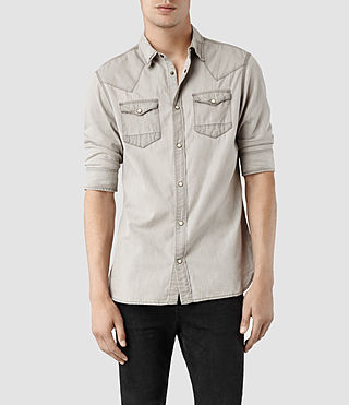Men's Hamako Half Sleeved Shirt (Grey)