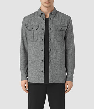 Uomo Chinook Ls Shirt (Charcoal Marl)