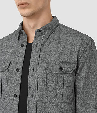Hommes Chinook Ls Shirt (Charcoal Marl) - product_image_alt_text_2