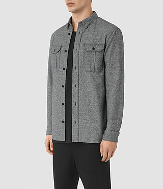 Herren Chinook Shirt (Charcoal Marl) - product_image_alt_text_3