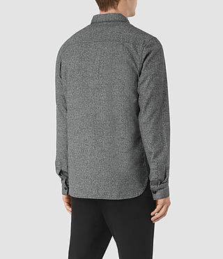 Hommes Chinook Ls Shirt (Charcoal Marl) - product_image_alt_text_4