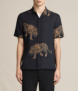 Hombres Java Short Sleeve Shirt (Jet Black)