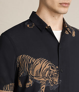 Herren Java Short Sleeve Shirt (Jet Black) - product_image_alt_text_2