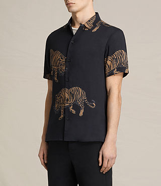 Herren Java Short Sleeve Shirt (Jet Black) - product_image_alt_text_3