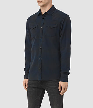Hombres Bigfork Ls Shirt (Ink) - product_image_alt_text_2