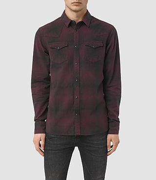 Hommes Bigfork Ls Shirt (Red) -