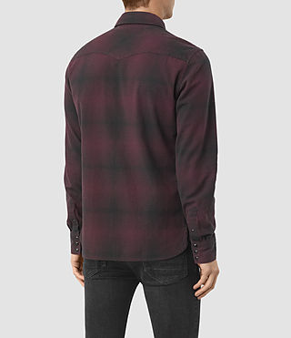 Hommes Bigfork Ls Shirt (Red) - product_image_alt_text_3