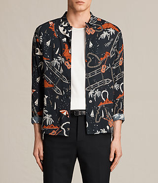 Uomo Ulua Shirt (Jet Black)
