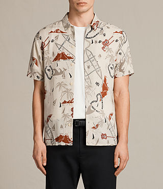 Herren Ulua Short Sleeve Shirt (ECRU WHITE)