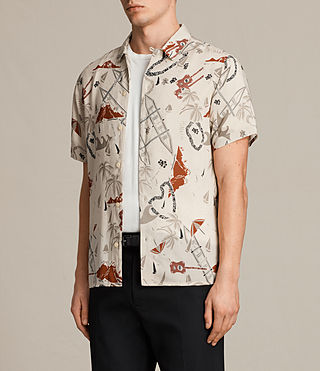 Mens Ulua Short Sleeve Shirt (ECRU WHITE) - product_image_alt_text_3
