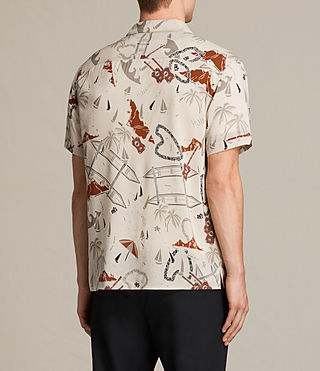 Mens Ulua Short Sleeve Shirt (ECRU WHITE) - product_image_alt_text_4