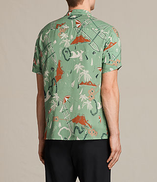 Mens Ulua Short Sleeve Shirt (VINTAGE GREEN) - product_image_alt_text_4