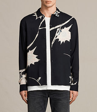 Mens Mokapu Shirt (Jet Black)