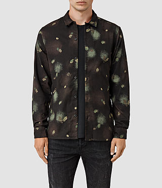 Hommes Abilene Ls Shirt (Washed Black)