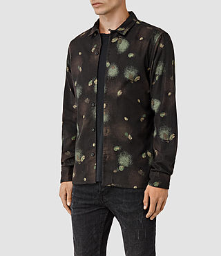 Mens Abilene Shirt (Washed Black) - product_image_alt_text_2