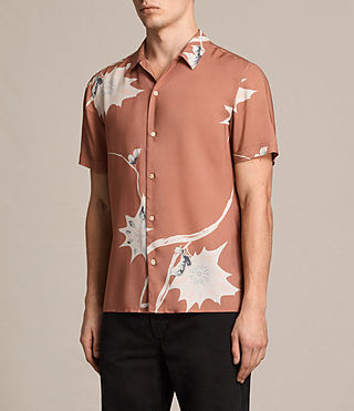 Men's Mokapu Short Sleeve Shirt (CINNAMON RED) - product_image_alt_text_2