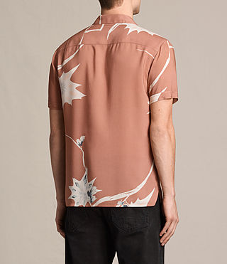 Men's Mokapu Short Sleeve Shirt (CINNAMON RED) - product_image_alt_text_3