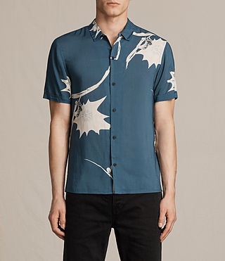 Mens Mokapu Short Sleeve Shirt (MONTANA BLUE)