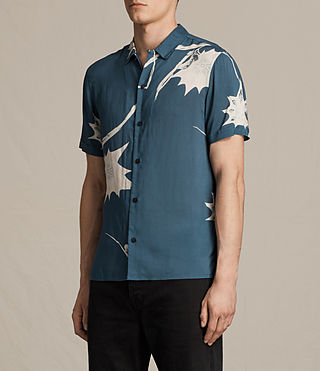 Mens Mokapu Short Sleeve Shirt (MONTANA BLUE) - product_image_alt_text_2