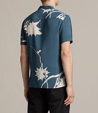 Mens Mokapu Short Sleeve Shirt (MONTANA BLUE) - product_image_alt_text_3