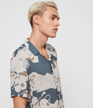 Men's Kahana Short Sleeve Shirt (Blue) - product_image_alt_text_2