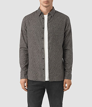 Herren Girard Ls Shirt (Washed Black)