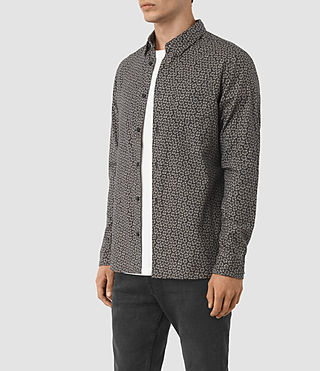 Mens Girard Shirt (Washed Black) - product_image_alt_text_2