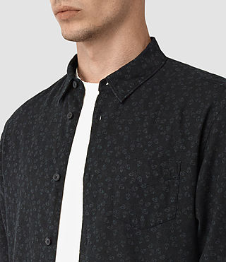 Mens Coteau Shirt (Black) - product_image_alt_text_2