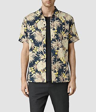 Mens Necker Short Sleeve Shirt (Indigo Blue)