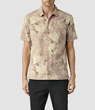Mens Laysan Short Sleeve Shirt (Sphinx Pink)