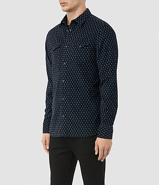Herren Rosebud Shirt (Dark Ink)